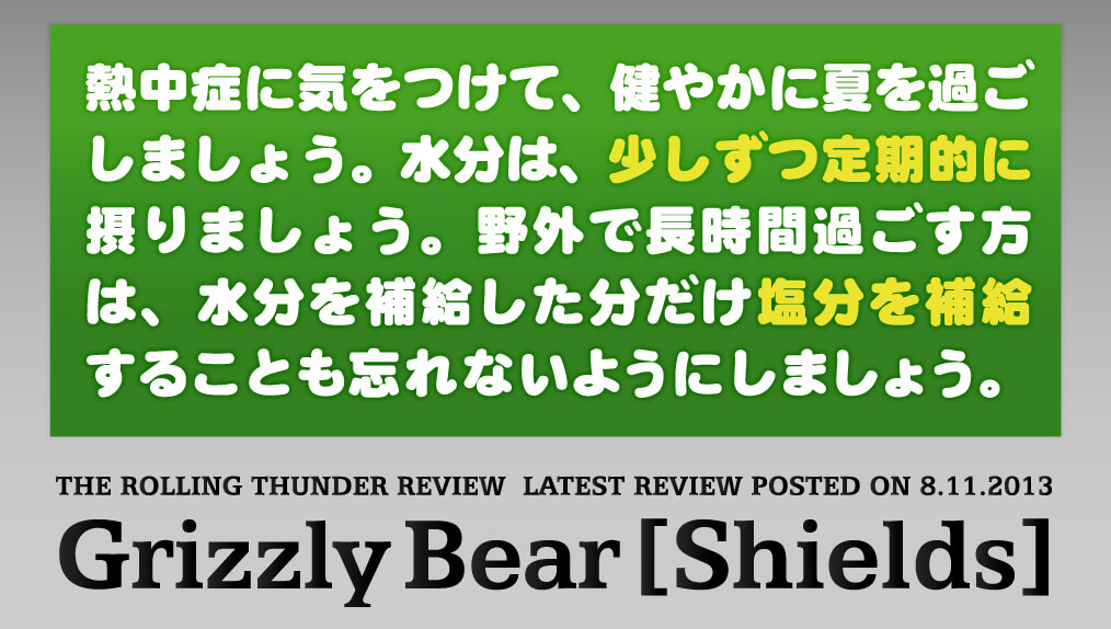 Grizzly BearのShields